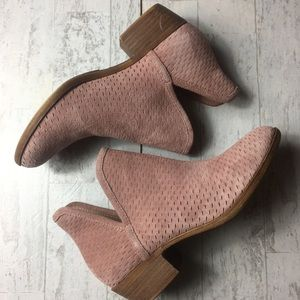 Suede Rose Lucky Brand Ankle Boots